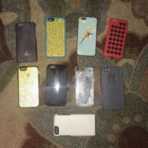 EUC BUNDLE OF 9 IPHONE 6/6S UNIQUE PHONE CASES